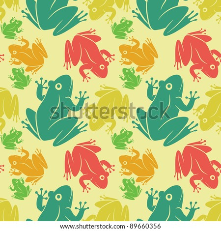 seamless pattern of frogs