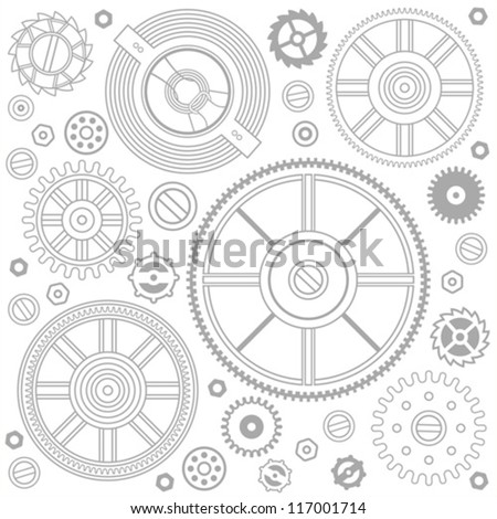seamless pattern of gears - stock vector