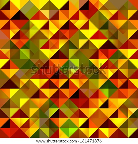 Seamless pattern of geometric shapes. Colorful mosaic backdrop. Geometric vector background. Colorful triangle pattern.