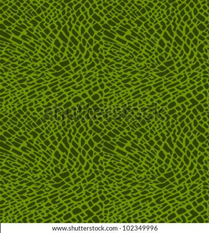 Seamless Pattern Of Green Crocodile Skin Stock Vector 102349996 ...