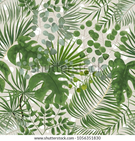 seamless pattern of green