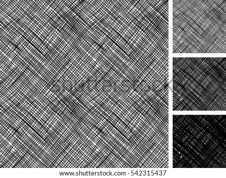 Seamless pattern of hand drawn sketches rough cross hatching grunge pattern. texture has three different shades: light, mid and dark tone.  Stockfoto ©