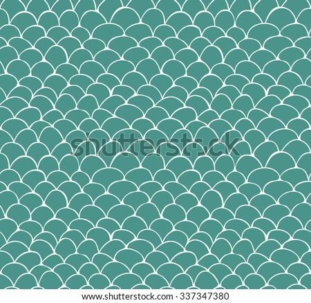 seamless pattern of hand drawn