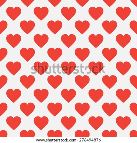 seamless pattern of hearts in