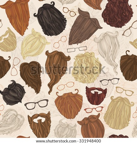 seamless pattern of hipster