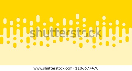 Seamless pattern of honey drop. Yellow background with rounded lines. #1186677478