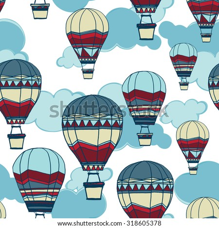 seamless pattern of hot air
