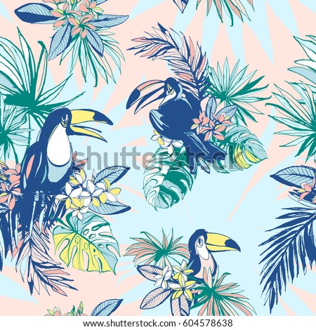seamless pattern of ink hand
