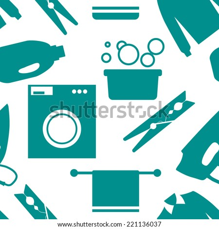 seamless pattern of laundry and