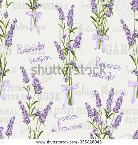 seamless pattern of lavender