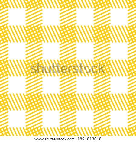 Seamless pattern of lines. Geometric orange background. Unusual lattice.