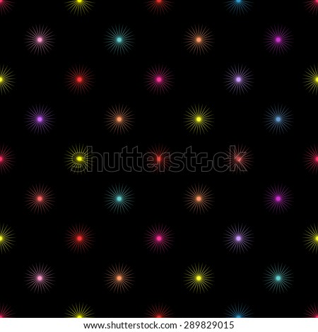 seamless pattern of luminous