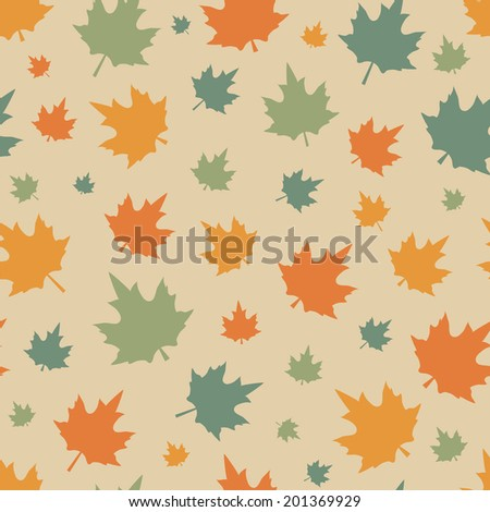 seamless pattern of maple