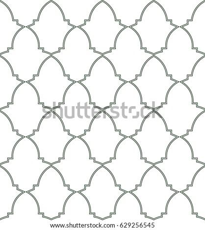 seamless pattern of moorish
