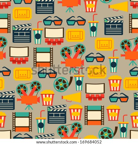 seamless pattern of movie