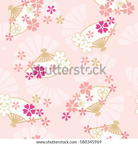 seamless pattern of oriental
