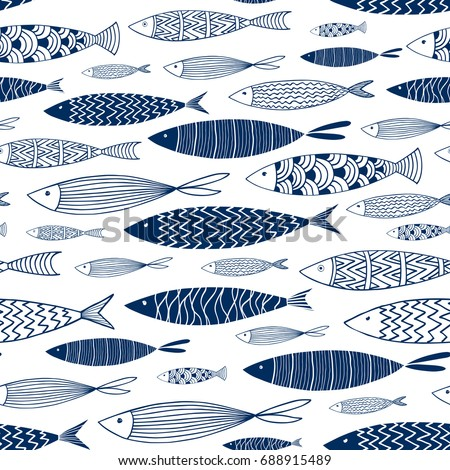 seamless pattern of ornamental