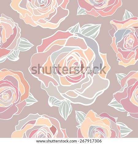 seamless pattern of pastel