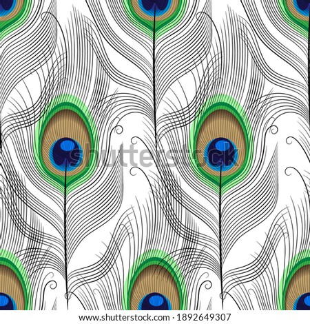 seamless pattern of peacock