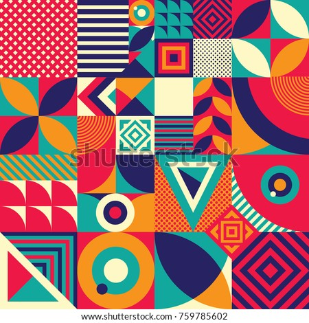 seamless pattern of pop and