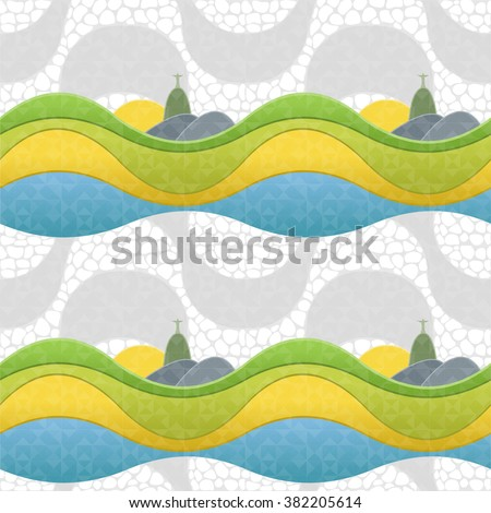 seamless pattern of rio de