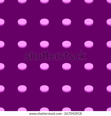 seamless pattern of round