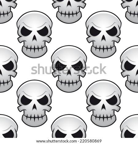 seamless pattern of scary