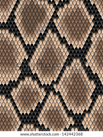Seamless pattern of snake skin for background design. Jpeg version also available in gallery