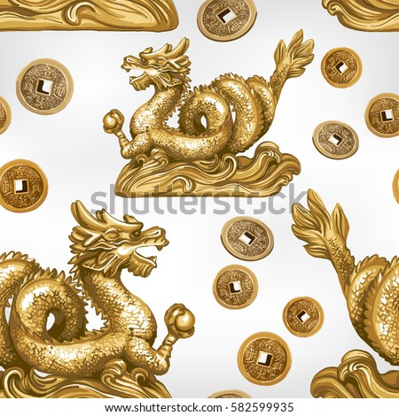 seamless pattern of the gold