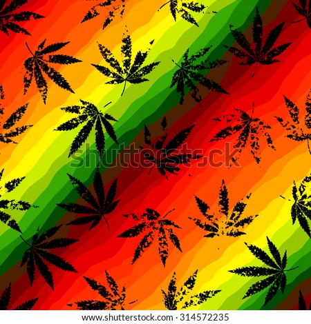 seamless pattern of the hemp