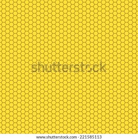 Seamless pattern of the hexagon honeycombs