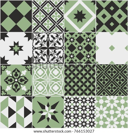 seamless pattern of tiles