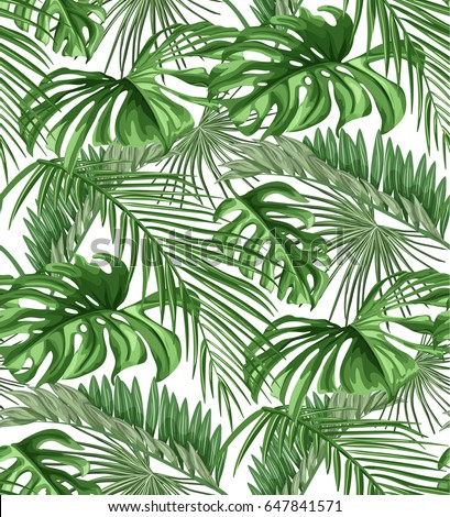 seamless pattern of tropical