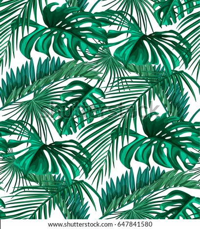 Royaltyfree Tropical Palm Leaves Jungle Leaf 60 Stock Inspiration Tropical Leaves Pattern