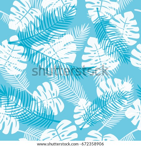 Seamless pattern of Tropical plants