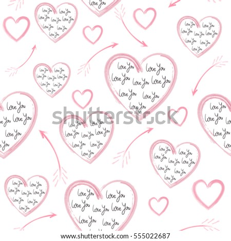 Seamless pattern of Valentine's Day.Can be used for Wallpapers, backgrounds, textures of