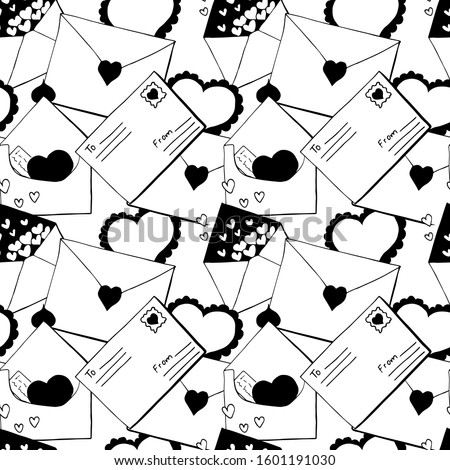 seamless pattern of valentines