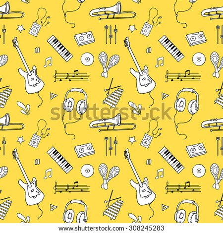 seamless pattern of various