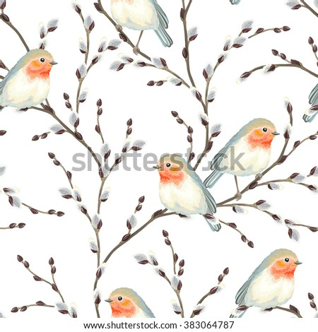 seamless pattern of willow