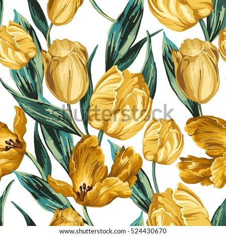 seamless pattern of yellow