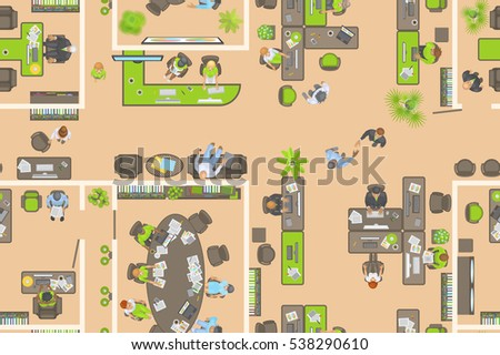 seamless pattern office view