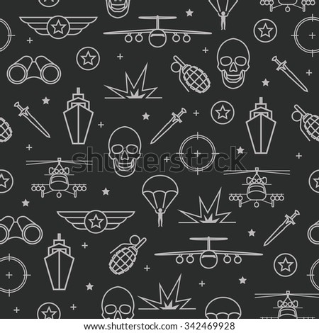seamless pattern on military