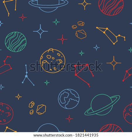 seamless pattern on the theme