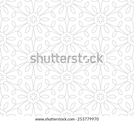 Seamless pattern Ornament of lines and curls Linear abstract background