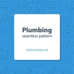 Seamless pattern, plumbing theme