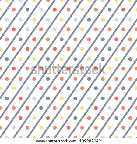 seamless pattern. polka dot - stock vector