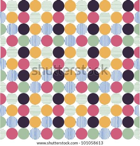 seamless pattern, polka dot fabric, wallpaper
