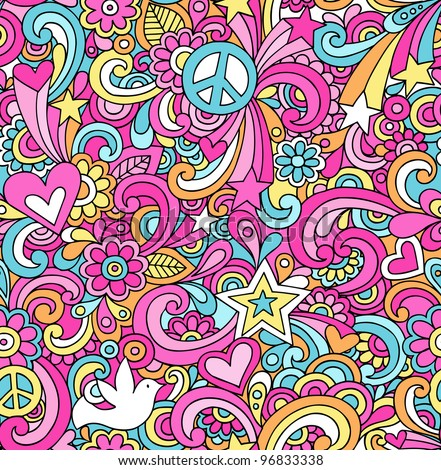 seamless pattern psychedelic