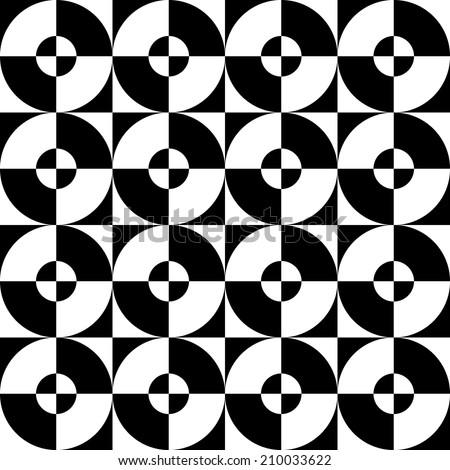 Seamless pattern quarters of a circle