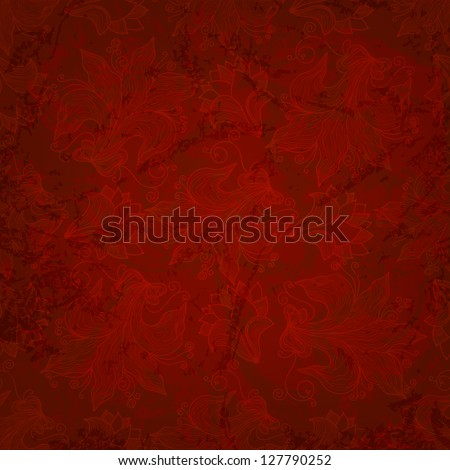 seamless pattern red